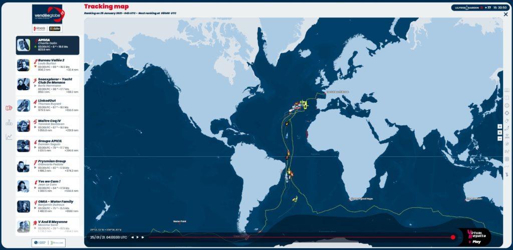 Tracking Map Vendée Globe